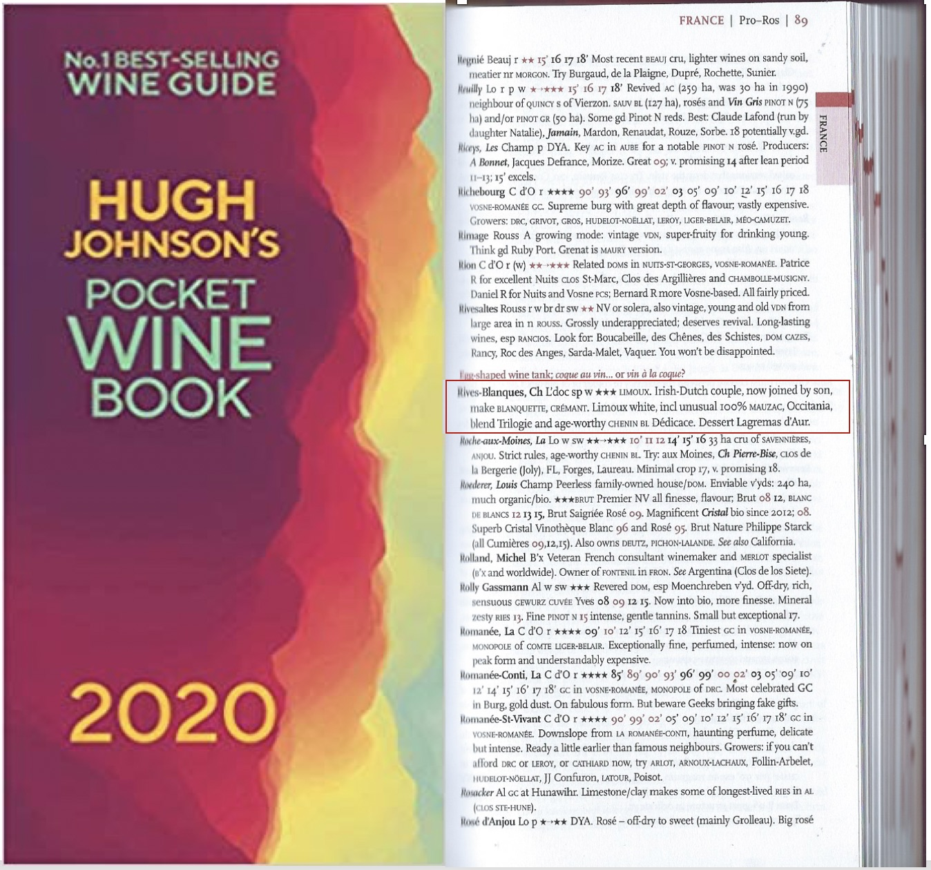 Best Seller Books 2020.September 2020 Rives Blanques Wines Recommended In Hugh